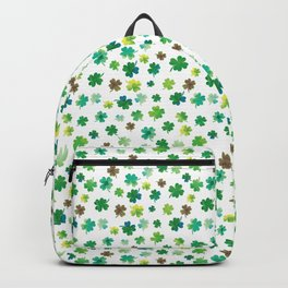 Lucky Watercolor Clovers Backpack