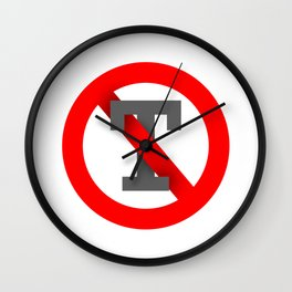 No T Wall Clock