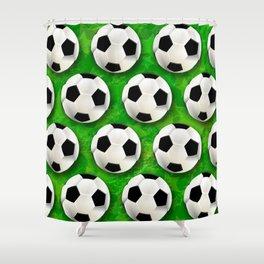 Soccer Ball Football Pattern Shower Curtain
