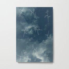 Blue Sky Full of Flowers Metal Print