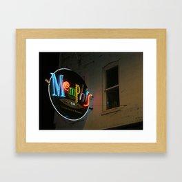 Neon Memphis  Framed Art Print