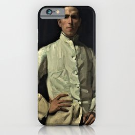 Hugh Ramsay - Self-portrait in white jacket - Digital Remastered Edition iPhone Case