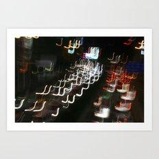Busy street in Chengdu Art Print