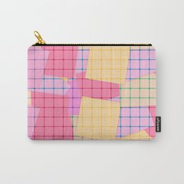Yellow pink plaid Carry-All Pouch