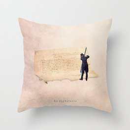 The signer Throw Pillow