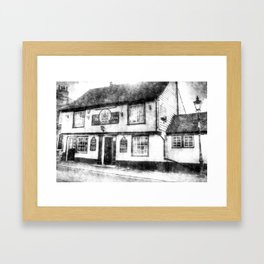 The Coopers Arms Pub Rochester Vintage Framed Art Print