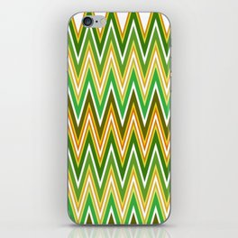 Sawtooth wave in retro colors iPhone Skin