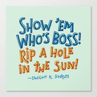 dwight schrute Canvas Prints featuring Dwight K. Schrute by Josh LaFayette