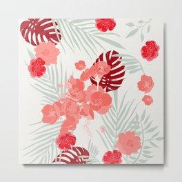 In full bloom - tropical blush Metal Print