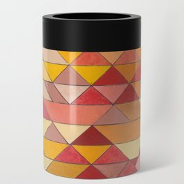 Triangle Pattern no.4 Warm Colors Red and Yellow Can Cooler