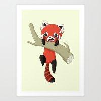 red panda Art Prints featuring Red Panda by Freeminds