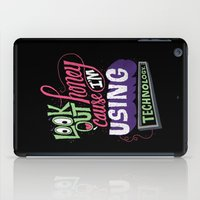 technology iPad Cases featuring Using Technology by Chris Piascik