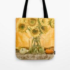 Simple Sunflowers Still Life -- Fall Colors Tote Bag