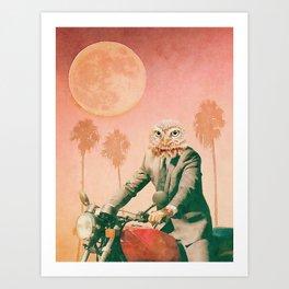 Hotline Miami Inspired Owl Art Print