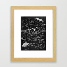 Sugar Cookie Recipe Art Framed Art Print