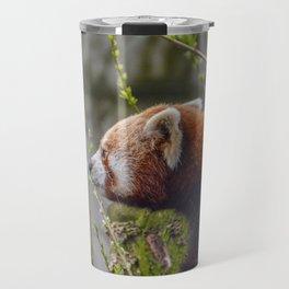 Close Up Of A Red Panda Travel Mug