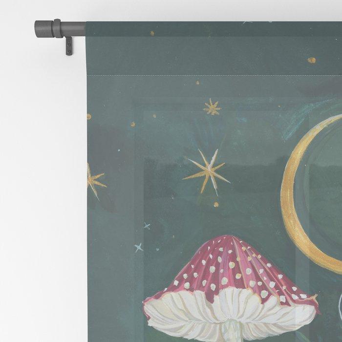 Mushroom night moth Sheer Curtain