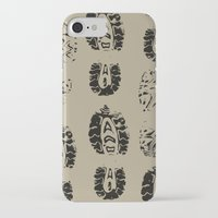 shoe iPhone & iPod Cases featuring Shoe Prints by Zen and Chic