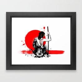 Trash Polka - Female Samurai Framed Art Print