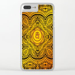 Sacral Chakra Mandala Tapestry Clear iPhone Case