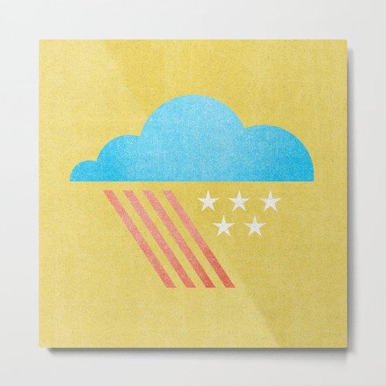 Patriotic Weather. Metal Print