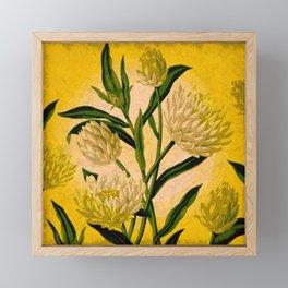 Yellow Floral Framed Mini Art Print