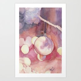 Christmas ornament Art Print