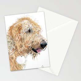 Cream Labradoodle Stationery Cards