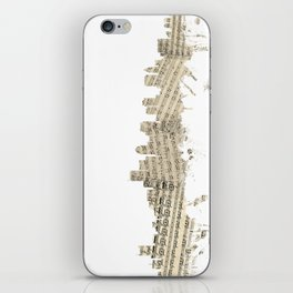 Boston Massachusetts Skyline Sheet Music Cityscape iPhone Skin