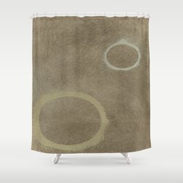 Two Circles - Modern Art - Abstract - California Cool - Popular Painterly - Law Of Attraction Shower Curtain