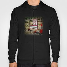 Stop on the red light - roadworks sign. Hoody