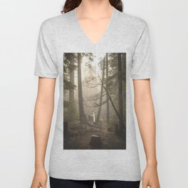 Sunrise Forest Adventure Unisex V-Neck