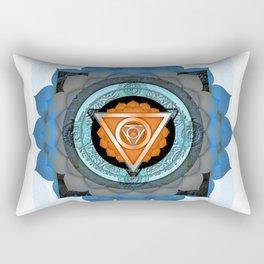 Divine Masculine Meditation Mandala Rectangular Pillow