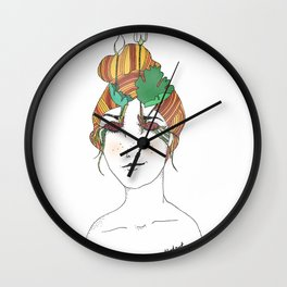 Bloodroot Girl Wall Clock