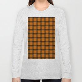 Dark Orange Weave Long Sleeve T-shirt