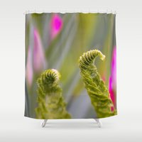 fern Shower Curtains featuring Fern by Regina Hoer