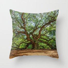 Angel Oak - Ancient Tree on Johns Island South Carolina Throw Pillow