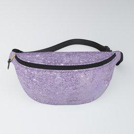 Modern elegant lavender lilac glitter marble Fanny Pack