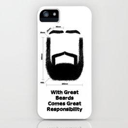 Beard Responsibility iPhone Case