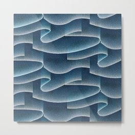 Aurora Borealis_Sky Blue Lights Metal Print
