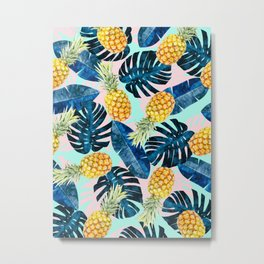 Tropical and exotic pattern painting III Metal Print
