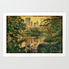 Central Park In Fall Art Print
