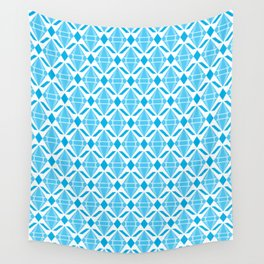 Abstract [BLUE] Emeralds Wall Tapestry