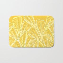 Golden Yellow Flora Bath Mat