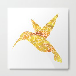 Hummingbird - Yellow Metal Print