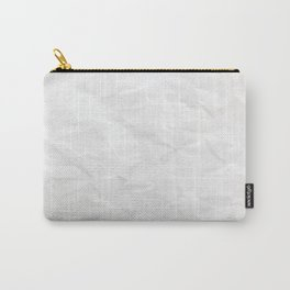White Paper Texture Background Carry-All Pouch