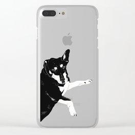 Carly Feelin Cute Clear iPhone Case