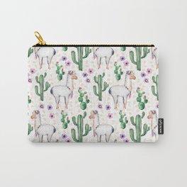 Llama Llamarama + Cactus Carry-All Pouch