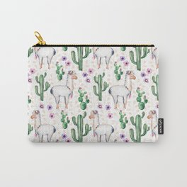 Llama Llamarama + Cactus Carry-All Pouch