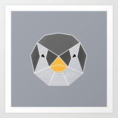 Grafic Penguin Art Print